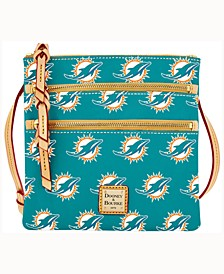 Miami Dolphins Triple-Zip Crossbody Bag