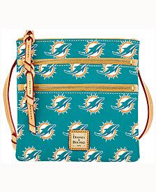 Dooney & Bourke Miami Dolphins Triple-Zip Crossbody Bag