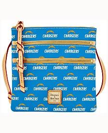 Dooney & Bourke Los Angeles Chargers Triple-Zip Crossbody Bag