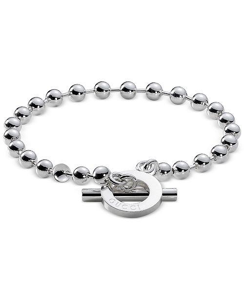 7f68fcfc5 Gucci Unisex Sterling Silver Toggle Bracelet YBA010294001018 ...