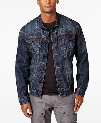 Sean John Men's Denim Jacket, Created for Macy's - Coats & Jackets ...