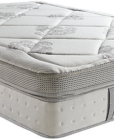 "Sleep Trends Hartz Queen 14"" Wrapped Coil Hybrid Cushion Firm Pillow Top Box Top Mattress, Quick Ship, Mattress in a Box"