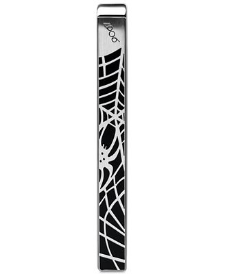Montblanc Spider Men's Stainless Steel and Black Web Tie Bar 114710