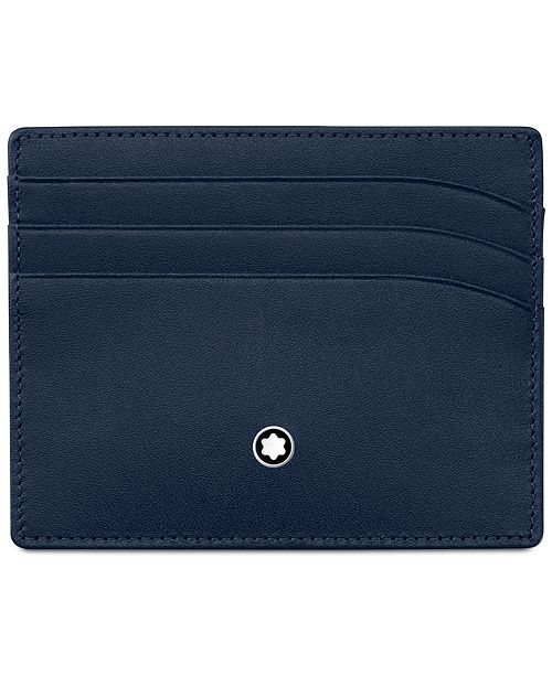 Montblanc Meisterstück Navy Leather 6-Pocket Holder 114557