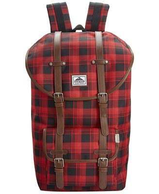 Steve Madden Men's Buffalo Plaid Utility Backpack