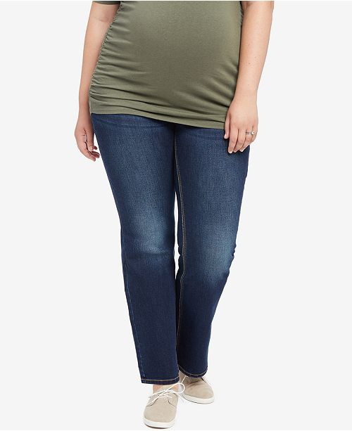 2986a0d8c50f2 Jessica Simpson. Plus Size Dark Wash Boot-Cut Maternity Jeans. 1 reviews.  main image ...