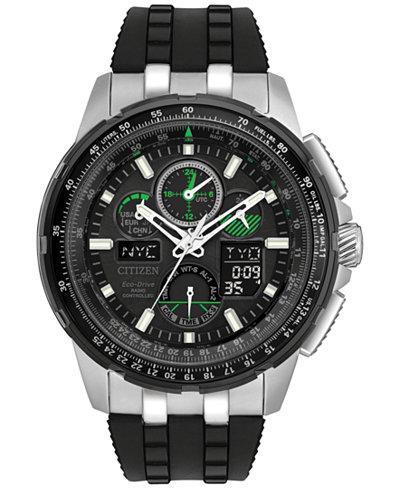 Citizen Eco-Drive Men's Analog-Digital Skyhawk A-T Black Strap Watch 47mm JY8051-08E