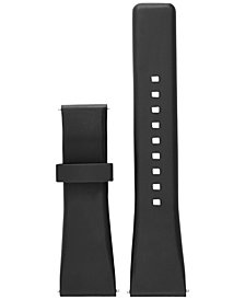 Michael Kors Access Women's Bradshaw Black Silicone Smart Watch Strap MKT9000