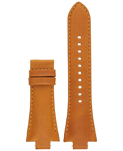 69690d43d640a3 ... Michael Kors Access Men's Dylan Luggage Leather Smartwatch Strap  MKT9015 ...