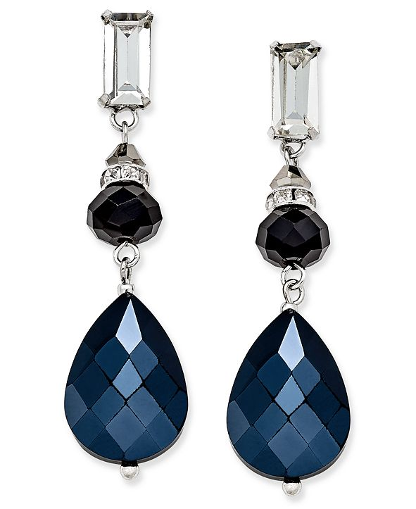 INC International Concepts I.N.C. Silver-Tone Triple-Drop Earrings, Created for Macy's