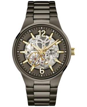 Caravelle New York by Bulova Men's Automatic Gunmetal Ion-Plated Stainless Steel Bracelet Watch 43mm 45A137