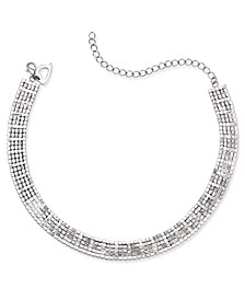 Silver-Tone Rhinestone Choker Necklace, Created for Macy's