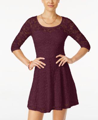 Long sleeve dress for juniors