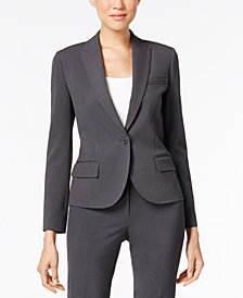 Anne Klein Single-Button Blazer