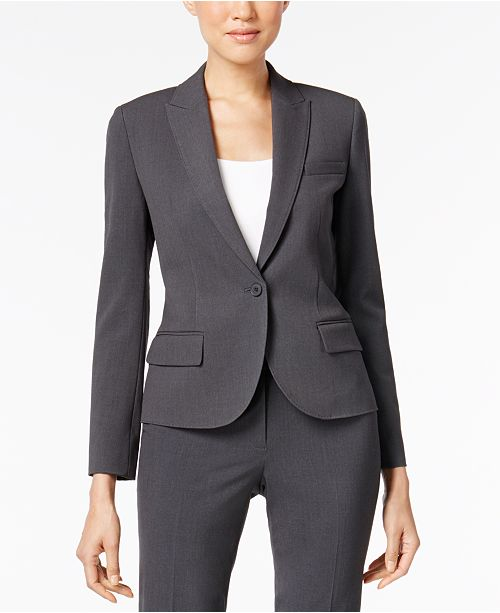 c19d550bb7 Anne Klein Single-Button Blazer   Reviews - Jackets   Blazers ...