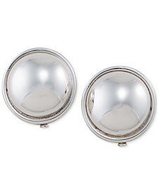 Lauren Ralph Lauren Gold-Tone Round Sphere Clip-on Earrings