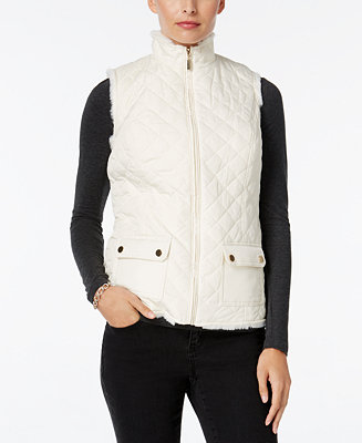 Charter Club Faux Fur Lined Puffer Vest Only At Macy S