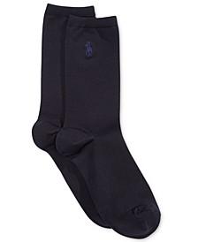 Women's Microfiber Flat Knit Trouser Socks