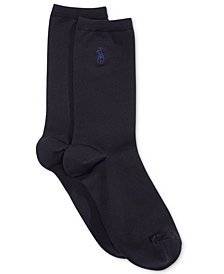Polo Ralph Lauren Women's Microfiber Flat Knit Trouser Socks