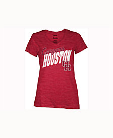 Pressbox Women's Houston Cougars Gander V-Neck T-Shirt