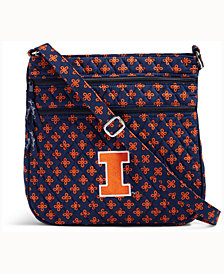 Vera Bradley Illinois Fighting Illini Triple Zip Hipster
