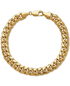 Men's Cuban Link Bracelet in 10k Gold