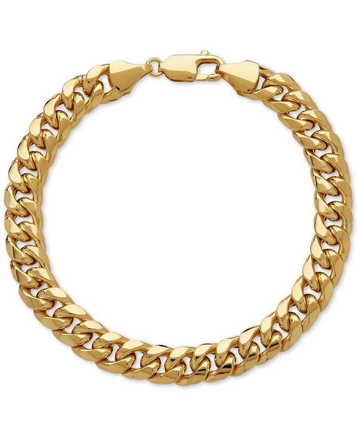 Italian Gold - Men's Cuban Link Bracelet in Italian 10k Gold