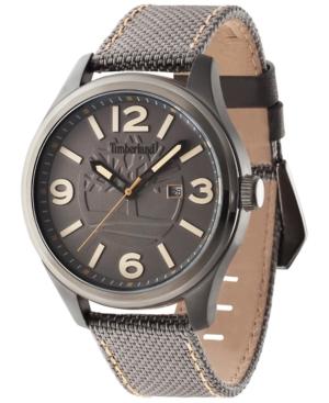 Timberland Men's Northfield Brown Nylon Strap Watch 45x65mm TBL14476JSU13
