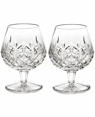 Waterford stemware lismore brandy glasses set of 2 bar wine accessories dining - Waterford cognac glasses ...