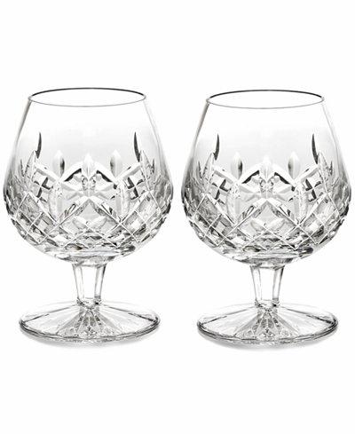 Waterford Stemware Lismore Brandy Glasses Set Of 2 Bar
