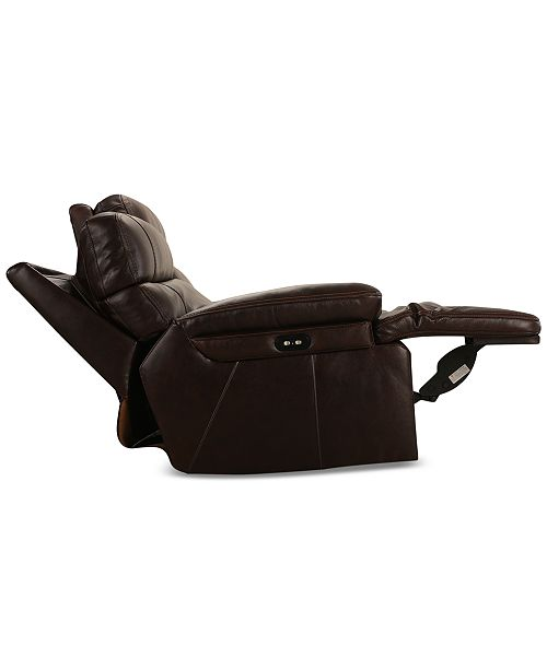 Furniture Barington 81 Quot Leather Loveseat With 2 Power