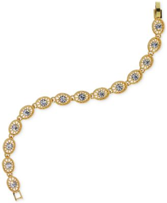 Image of 2028 Crystal Filigree Link Bracelet, a Macy's Exclusive Style