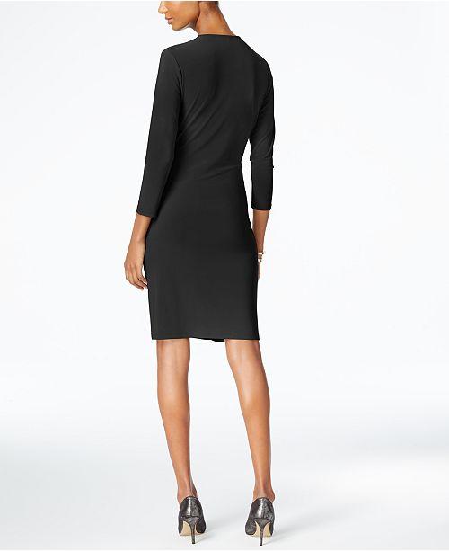 b531af24c81b Anne Klein Faux-Wrap Dress & Reviews - Dresses - Women - Macy's