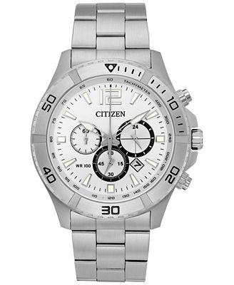 Citizen Men's Chronograph Quartz Stainless Steel Bracelet Watch 44mm AN8120-57A, A Macy's Exclusive Style