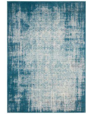 "Kismet KIS06 Ivory/Blue 5'3"" x 7'4"" Area Rug, Created for Macy's"
