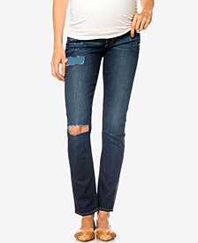 Paige Denim Maternity Dark Wash Straight-Leg Jeans