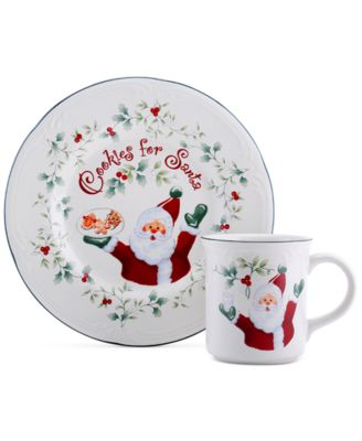 Winterberry 2-Pc. Cookie for Santa Plate & Mug Set