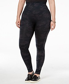 Women's  Plus Size Look At Me Now Tummy Control Leggings