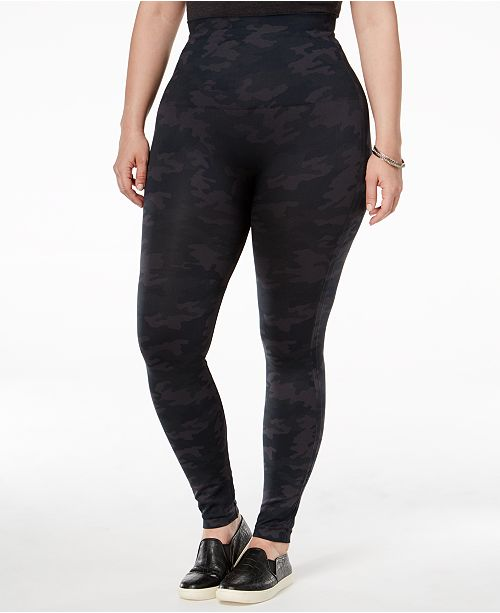 SPANX Women's  Plus Size Look At Me Now Tummy Control Leggings