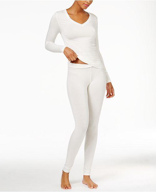 Cuddl Duds Softwear Long Sleeve V-Neck Top & Softwear Stretch Leggings