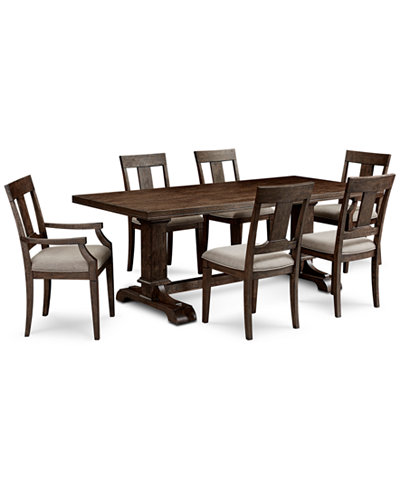 Briarcliff Dining Furniture 7 Piece Set Table 4 Side Chairs 2 Arm Ch