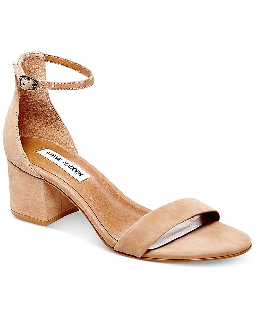 b8d1708f2 Steve Madden Women s Irenee Two-Piece Block-Heel Sandals   Reviews ...