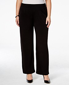 Plus Size Pull-On Wide-Leg Pants
