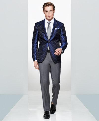 Tallia Men's Navy Paisley Dot Sport Coat & Cambridge Solid Tie