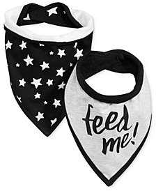 First Impressions 2-Pk. Feed Me Bandana Bibs, Baby Boys, Created for Macy's