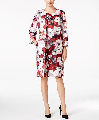 Kasper Floral-Print Jacket & Sheath Dress