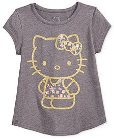 Hello Kitty Glitter Graphic-Print T-Shirt, Toddler Girls
