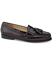 Men's Pinch Tassel Moc-Toe Loafers