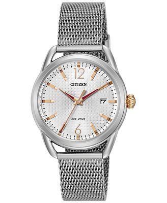 Citizen Drive from Citizen Eco-Drive Women's Stainless Steel Mesh Bracelet Watch 34mm FE6081-51A