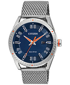 Citizen Drive from Citizen Eco-Drive Men's Stainless Steel Mesh Bracelet Watch 42mm BM6990-55L